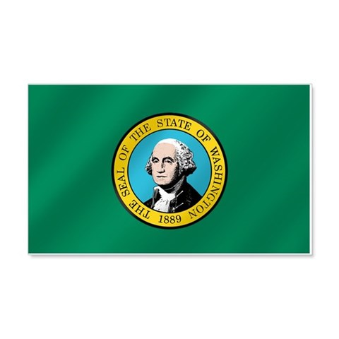 Washington State Flag 22x14 Wall Peel 20x12 Wall Decal