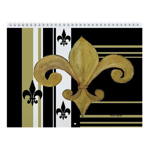 Fleur de lis 2013 Wall Calendar