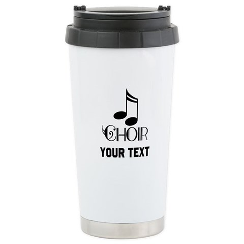 Personalized Choir Musical Ceramic Travel Mug