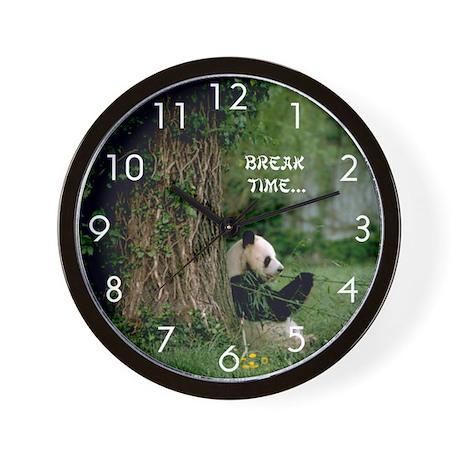 Giant Panda: : Break Time Wall Clock