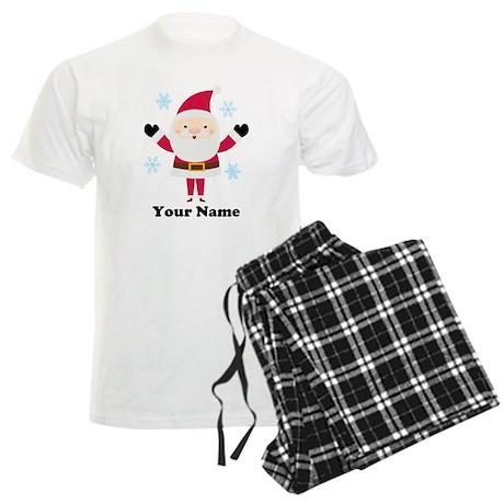 Personalized Santa Claus Snowflake Christmas Pajamas for Men