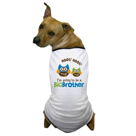 Retro Owl going to be a Big Brother Dog T-Shirt