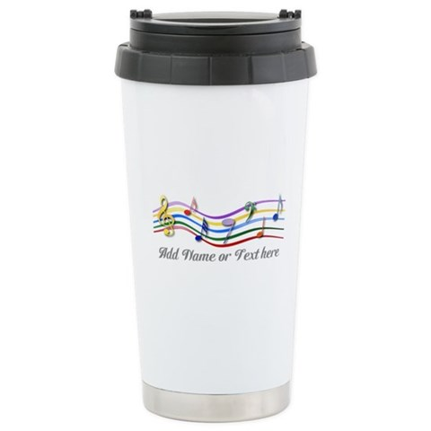 Personalized Rainbow Musical Ceramic Travel Mug