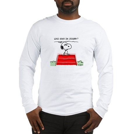 Crabby Snoopy Long Sleeve T-Shirt