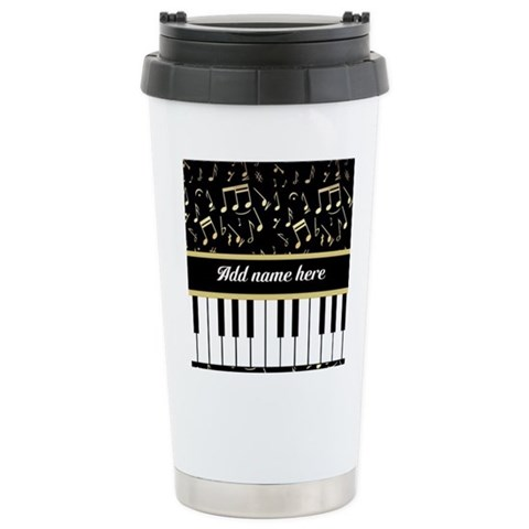 Personalized Piano and musical notes Ceramic Trave Ceramic Travel Mug
