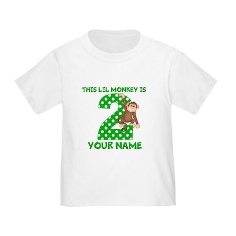 2nd Birthday Boy Monkey Toddler T-Shirt