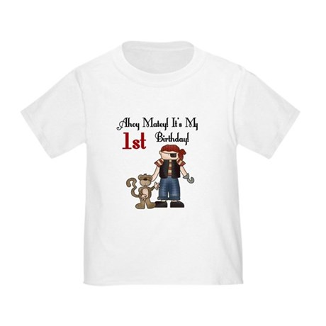 Pirate Party 1st Birthday Toddler T-Shirt
