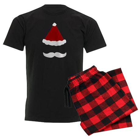 Mens Mustache Santa Claus Christmas Pajamas