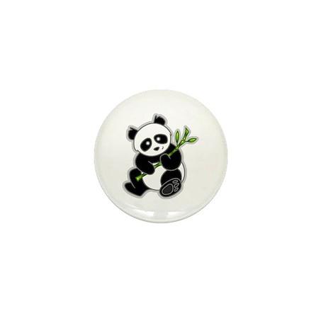 Sitting Panda Bear Mini Button