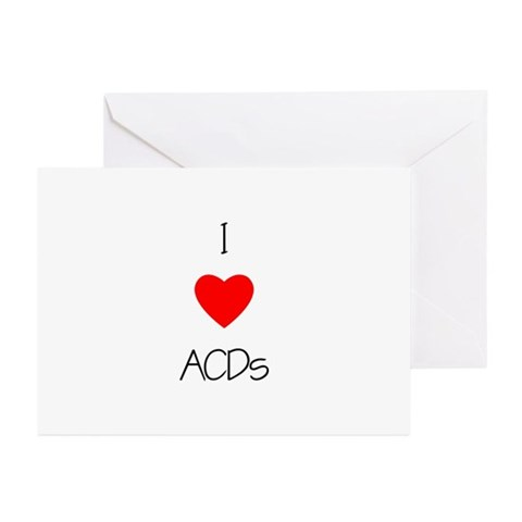 I Love ACDs Greeting Cards (Pk of 10)