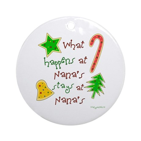 "Christmas at Nana's"" Ornament (Round)"