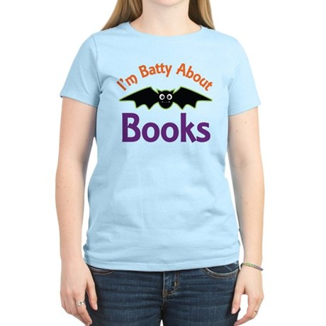 Batty About Books Women's Light T-Shirt