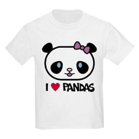 I Love Pandas Kids T-Shirt