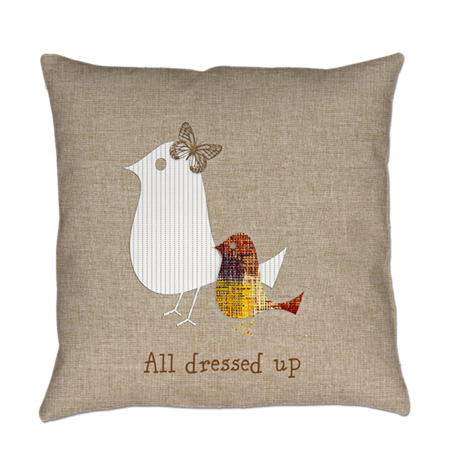 Custom All Dressed Up Birds Butterfly Everyday Pillow